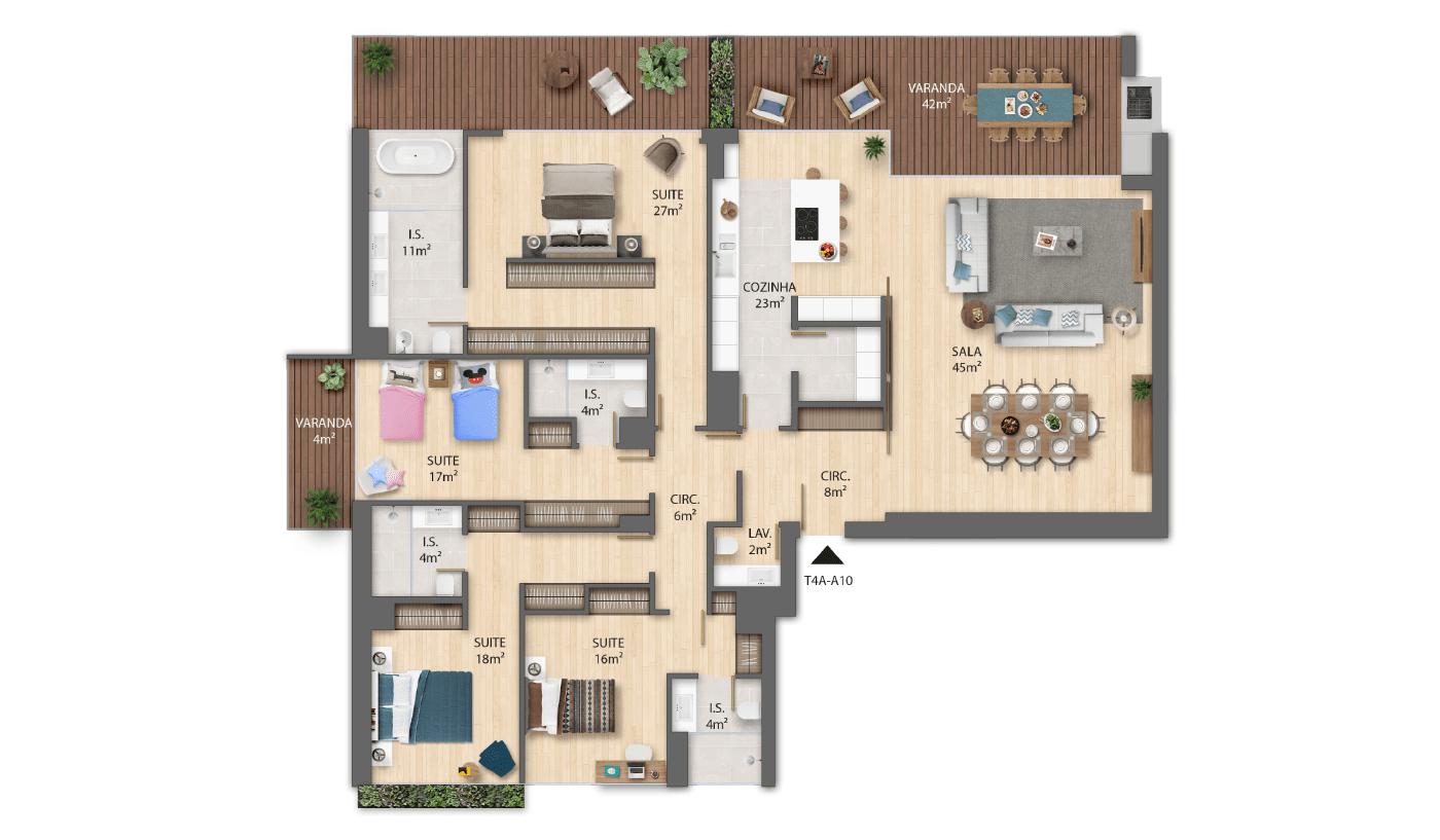 Edifício A | Planta T4A-A10